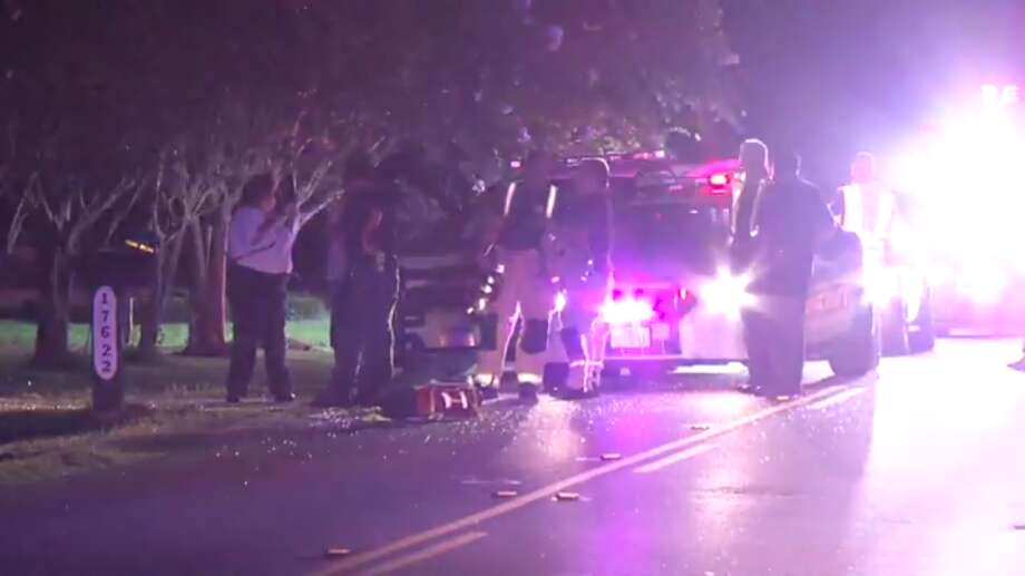 A teen is dead after a Cypress-area car crash Saturday night. Photo: Metro Video