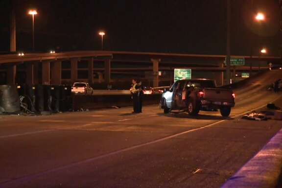 One person died after a rollover wreck on US 59.  One person died after a rollover wreck on US 59.