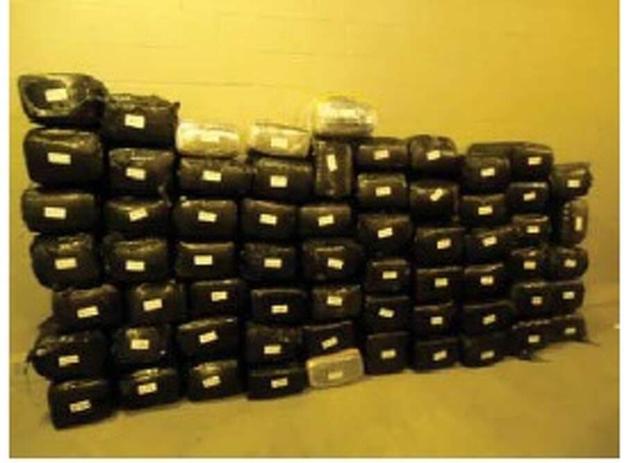 U.S. Border Patrol recently seized over 1,500 pounds of marijuana at the checkpoint on Interstate 35. Photo: U.S. Border Patrol/Courtesy