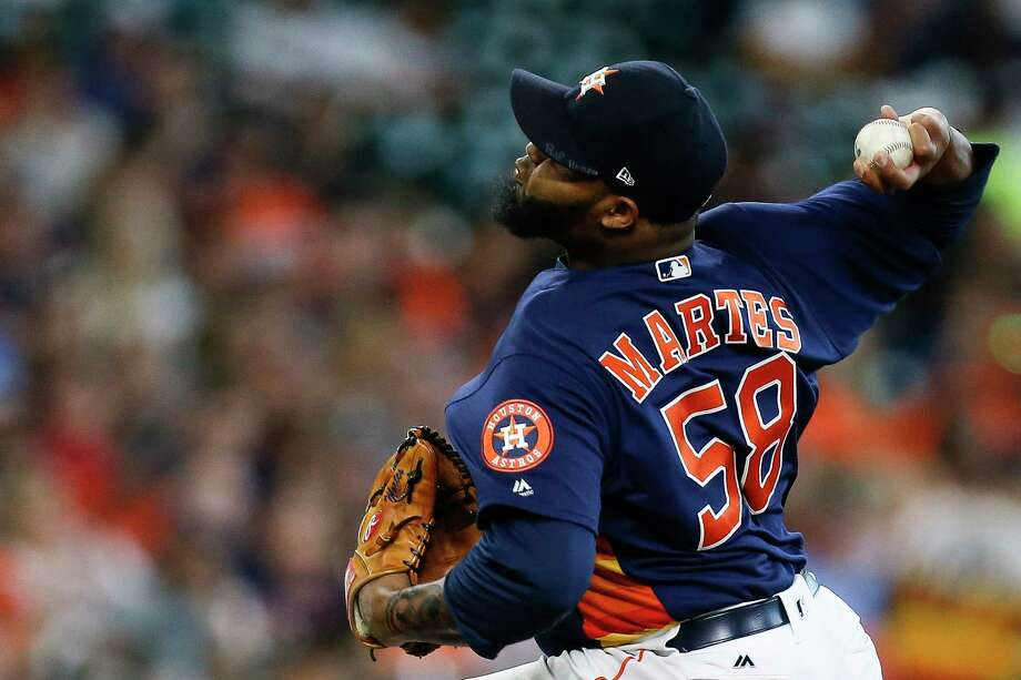 Astros relief pitcher Francis Martes is progressing with his change-up during spring training. Photo: Michael Ciaglo, Houston Chronicle / Michael Ciaglo