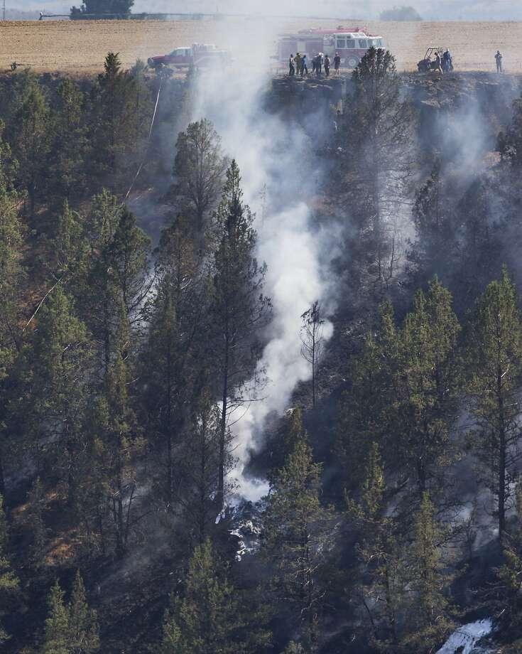 Plane crash kills 1 near central Oregon eclipse hotspot