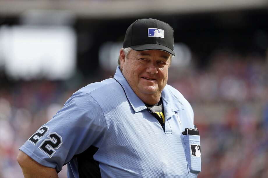 Joe West was suspended for three games for criticizing Adrian Beltre. Photo: Tony Gutierrez, Associated Press