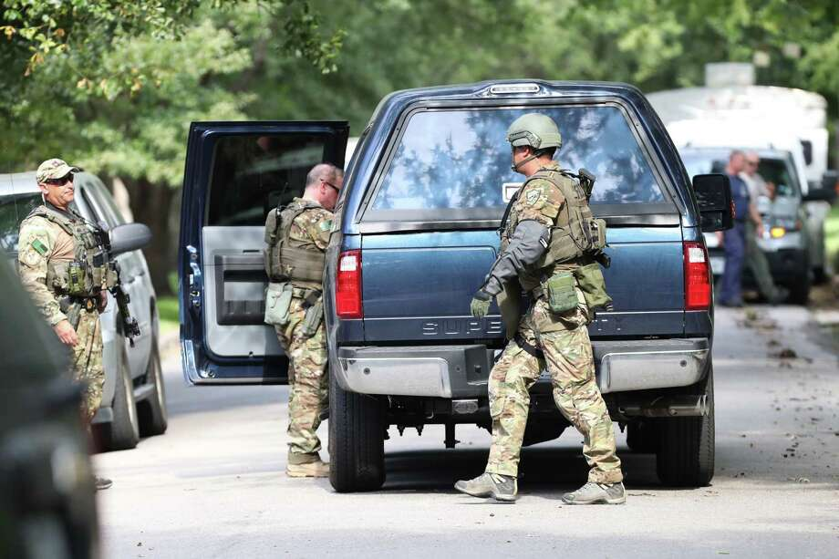 """Houston Police said they were responding to a """"special assignment"""" in the 2000 block of Albans  Sunday, August 20, 2017. Photo: Steve Gonzales, Steve Gonzales / Houston Chronicle / 2017"""