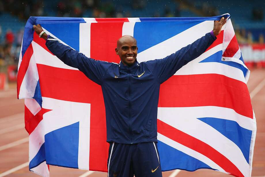 BIRMINGHAM, ENGLAND - AUGUST 20:  Mo Farah of Great Britain celebrates winning the Men's 3000m, his last UK track race during the Muller Grand Prix Birmingham as part of the IAAF Diamond League 2017 at Alexander Stadium on August 20, 2017 in Birmingham, United Kingdom.  (Photo by Alex Livesey/Getty Images) Photo: Alex Livesey, Getty Images