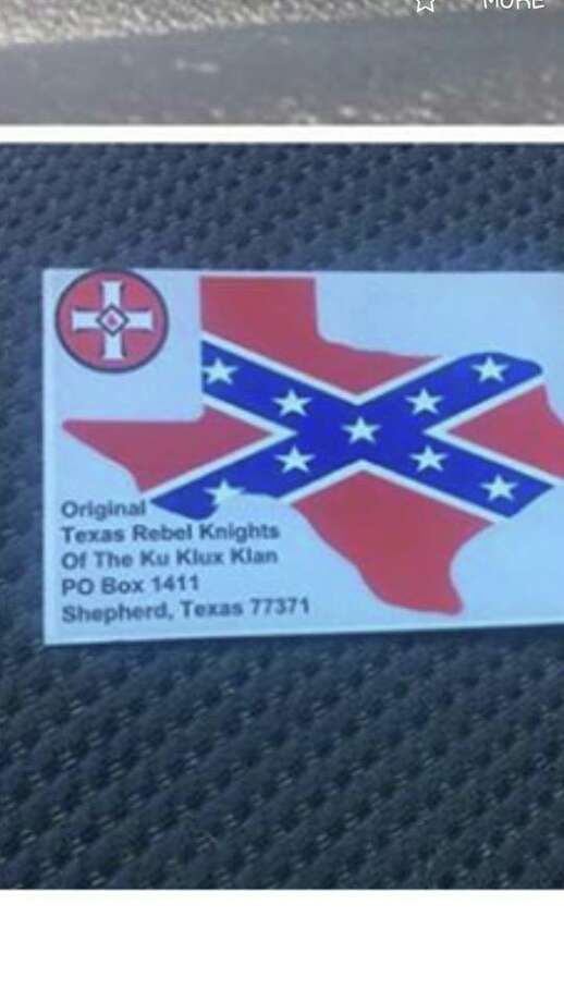 A Shepherd resident claims this card was found on a friend's vehicle recently. Photo: Submitted