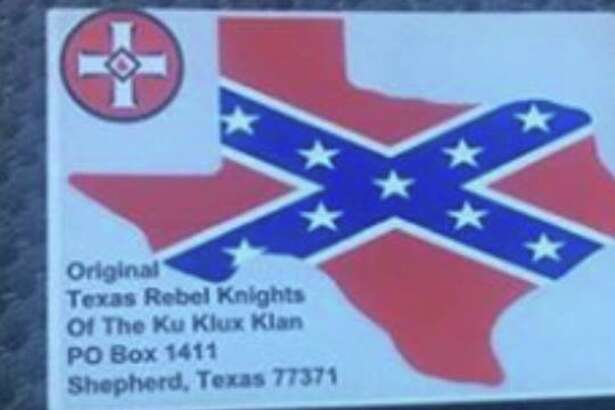 A Shepherd resident claims this card was found on a friend's vehicle recently.