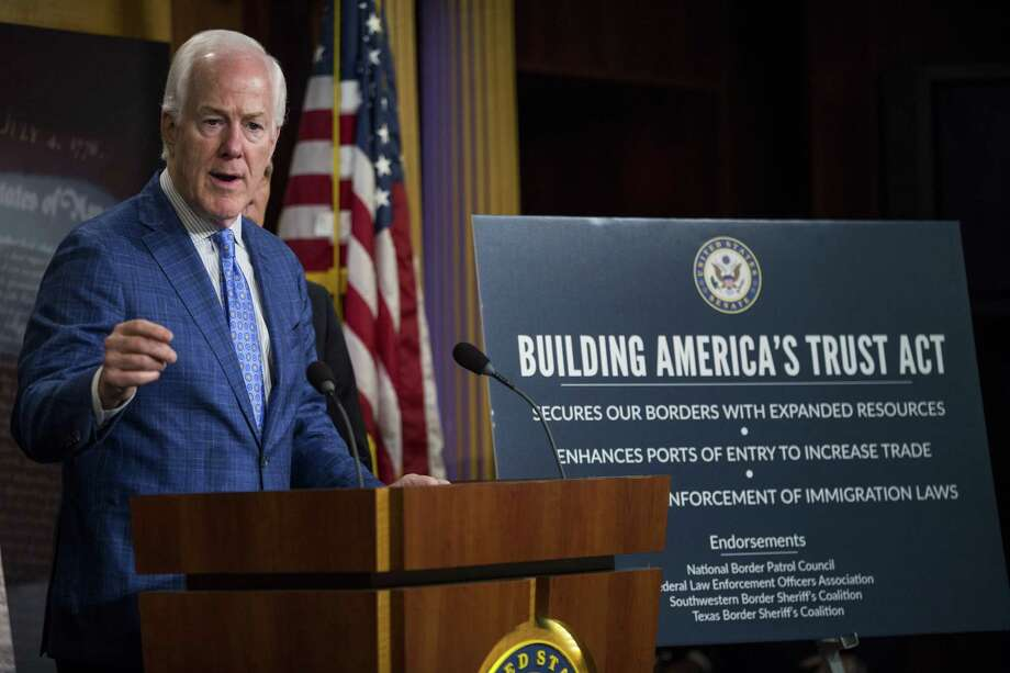 """Senate Majority Whip John Cornyn, viewed by some colleagues as quiet and dignified, says """"the only way we get things done is by consensus."""" Photo: Zach Gibson / © 2017 Bloomberg Finance LP"""