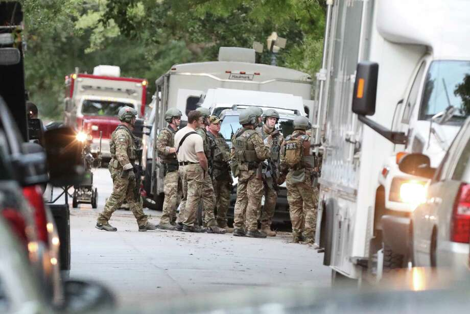 "FBI, ATF and Houston Police said they were responding to a ""special assignment"" in the 2000 block of Albans  Sunday, August 20, 2017. Photo: Steve Gonzales, Steve Gonzales / Houston Chronicle / 2017"