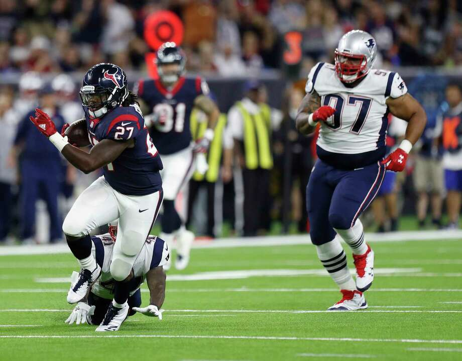 Through two preseason games, running back D'Onta Foreman has two of the Texans' four plays of at least 30 yards - a 41-yard run and a 63-yard reception. Photo: Karen Warren, Staff Photographer / @ 2017 Houston Chronicle