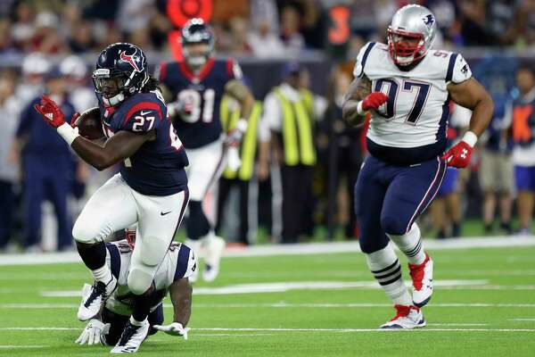 Through two preseason games, running back D'Onta Foreman has two of the Texans' four plays of at least 30 yards - a 41-yard run and a 63-yard reception.