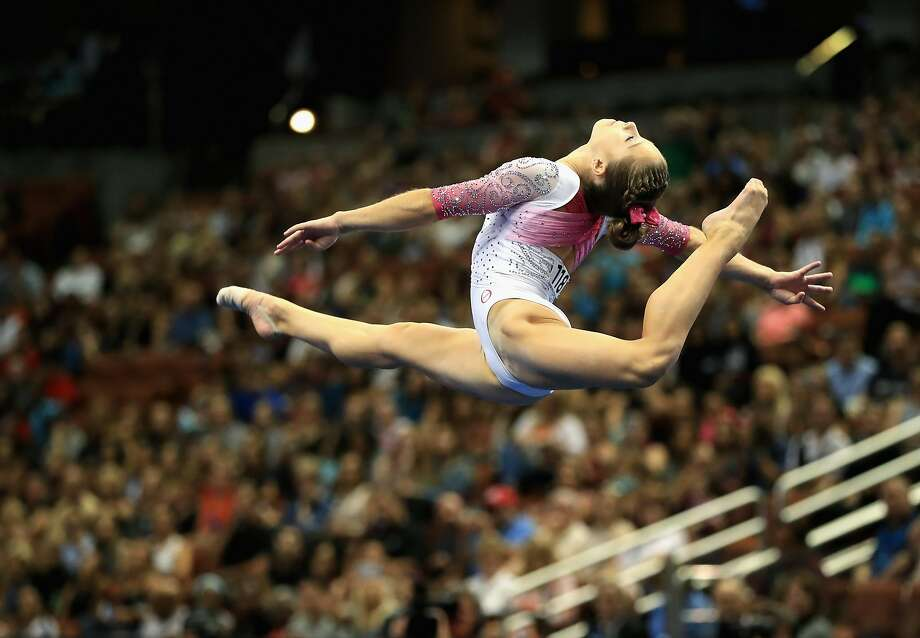 Ragan Smith competes in the Floor Exercise during the P&G Gymnastics Championships at Honda Center. Photo: Sean M. Haffey, Getty Images