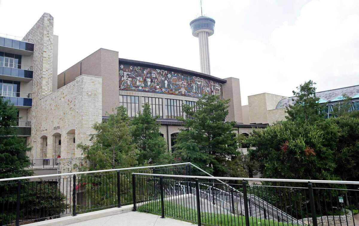 The Confluence of Civilizations mural by Juan O'Gorman on the exterior of Lila Cockrell Theatre now is viewable from a greater distance after renovations at the Convention Center.
