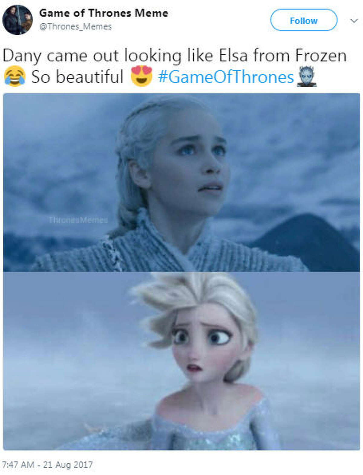 """""""Dany came out looking like Elsa from Frozen"""