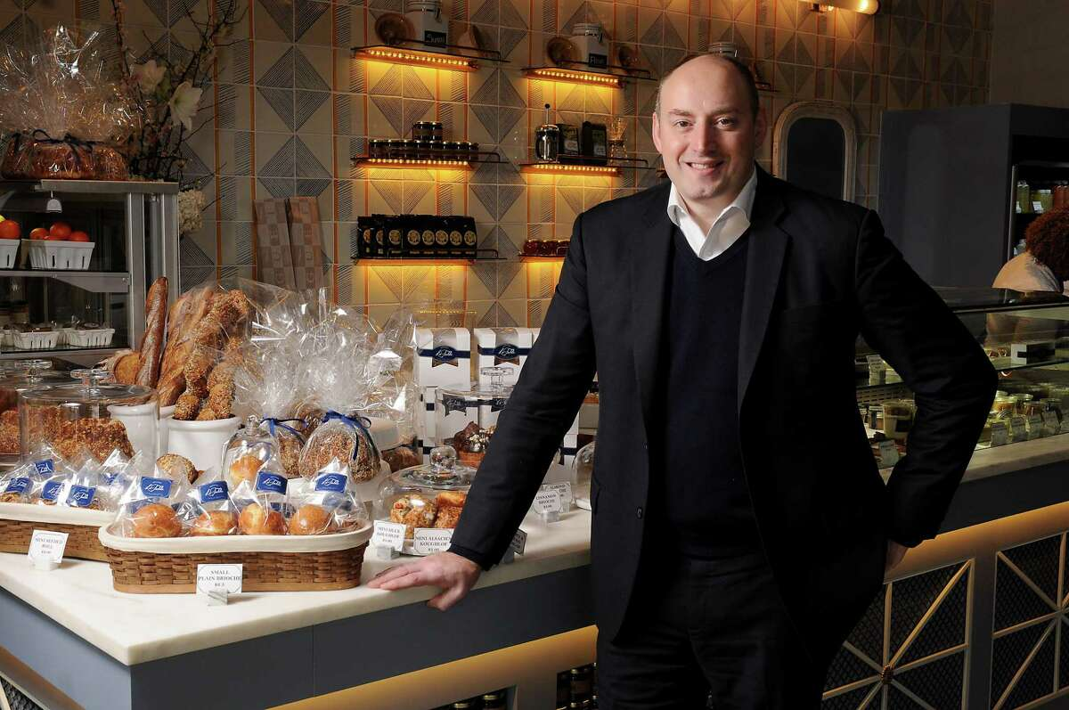 Alexandre Gaudelet at La Table restaurant in the Galleria neighborhood. La Table and Invest Hospitality (Gaudelet is the founder) have created Hospitality for Houston initiative to help the hospitality industry in the country donate to Harvey relief efforts in Houston.