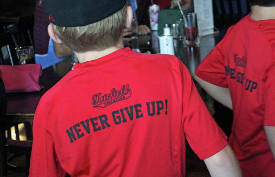 It was standing room only at the Colony Grill Sunday morning when the American Fairfield Little League team took on Texas. Fairfield,CT 8/20/17 Photo: Genevieve Reilly / Hearst Connecticut Media / Fairfield Citizen