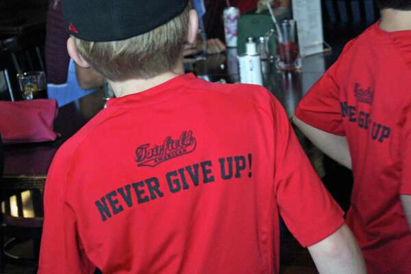 It was standing room only at the Colony Grill Sunday morning when the American Fairfield Little League team took on Texas. Fairfield,CT 8/20/17