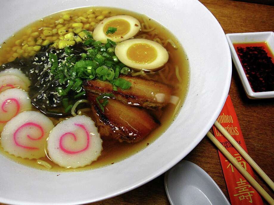 Shoyu ramen with chashu pork from Nama Ramen on Babcock Road Photo: Mike Sutter /Staff File Photo