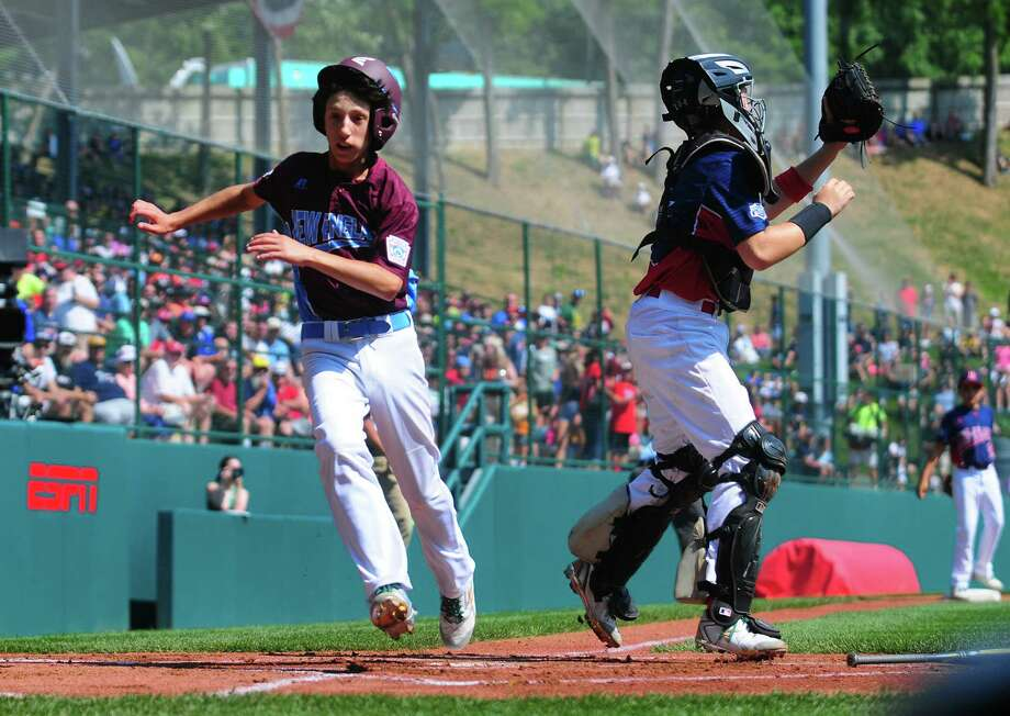 Fairfield American's Matthew Vivona in action during the Little League Baseball World Series in South Williamsport, Penn., on Thursday Aug. 17, 2017. Photo: Christian Abraham, Hearst Connecticut Media / Connecticut Post
