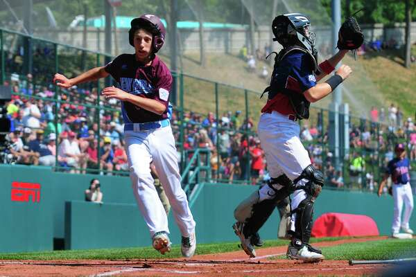 Fairfield American's Matthew Vivona in action during the Little League Baseball World Series in South Williamsport, Penn., on Thursday Aug. 17, 2017.