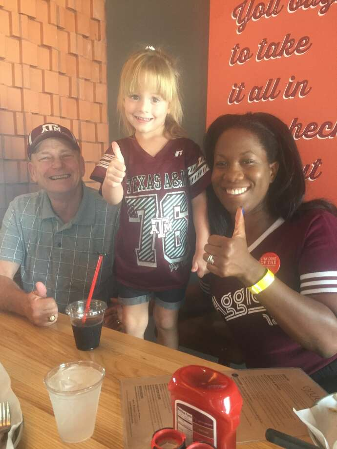 Aggies: Mike Reeves, from left, Charlotte Boaz and Ashlee Nelson Photo: Courtesy Photo