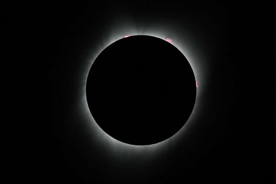 The total solar eclipse as seen from Salem, Oregon on August 21, 2017.