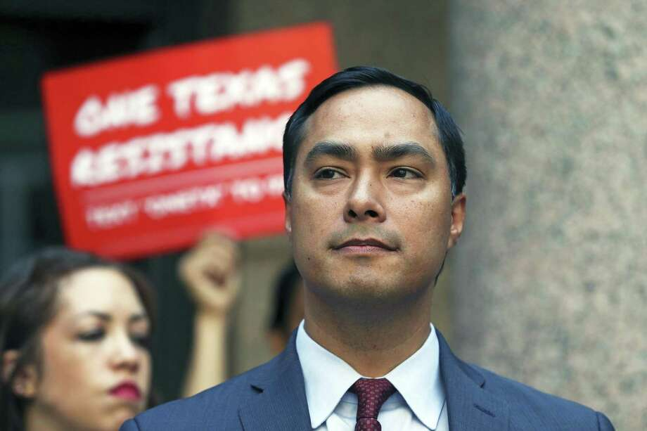 U.S. Congressman Joaquin Castro speaks at a One Texas Resistance Press Conference at the Capitol in Austin on August 16, 2017. Photo: Tom Reel, Staff / San Antonio Express-News / 2017 SAN ANTONIO EXPRESS-NEWS