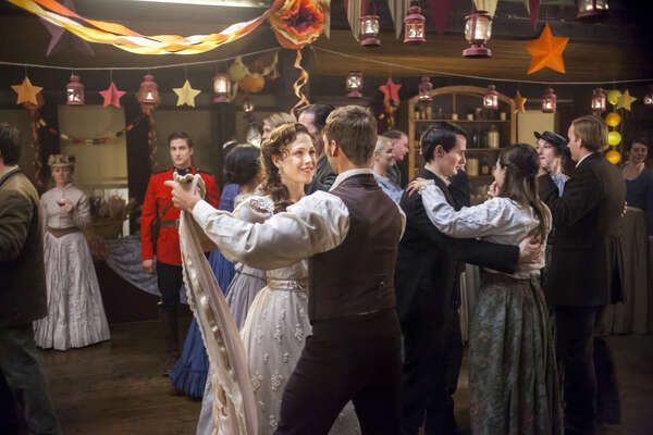 "A scene from the Hallmark Channel's hit series ""When Calls the Heart."" The show follows Elizabeth Thatcher, a young socialite who moves to a small Canadian frontier town in the early 1900s."
