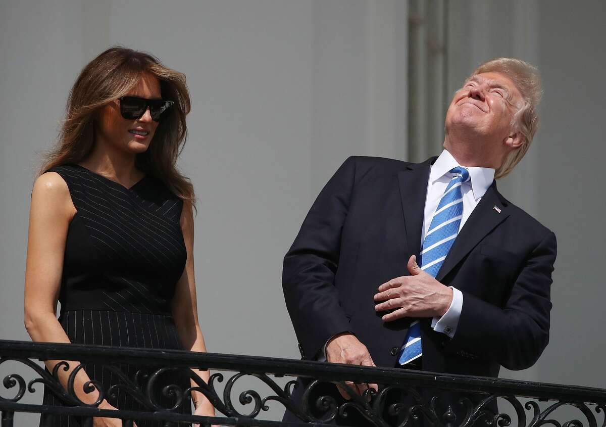 Photos: The Great American Eclipse President Donald Trump was spotted briefly watching the total solar eclipse without protective solar filter glasses. See the best photos of the Great America Eclipse and its admirers so far.
