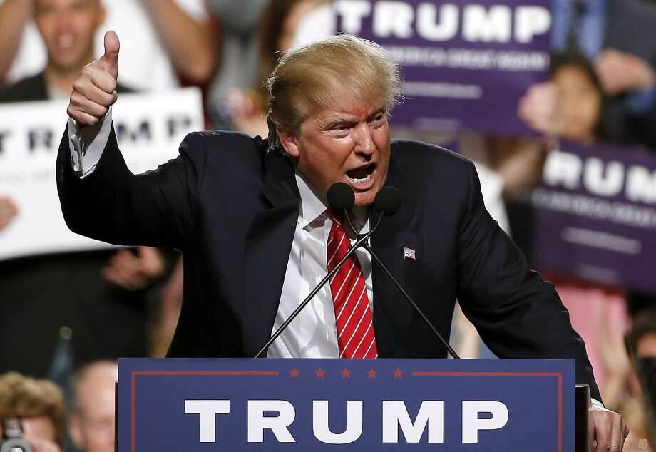 Donald Trump got a big boost during a July 2015 speech to supporters in Phoenix. He returns to Arizona on Tuesday. Photo: Ross D. Franklin, Associated Press