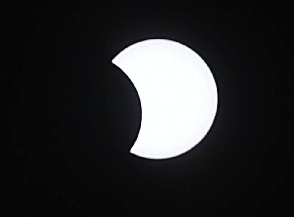 View of the solar eclipse from the Dudley Observatory at miSci on Monday Aug. 21, 2017 in Schenectady, N.Y. (Lori Van Buren / Times Union)