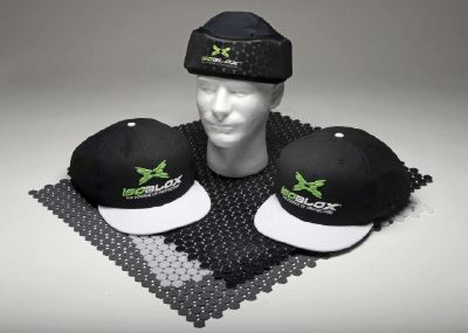 This product image released by Vizion Group on Tuesday, Jan. 28, 2014, shows the isoBLOX protective cap for professional baseball players.