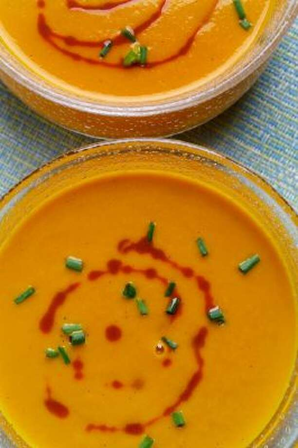 Carrot-Curry Soup. Carrot juice accounts for the bulk of the liquid in this velvety soup, providing intensity and sweetness.