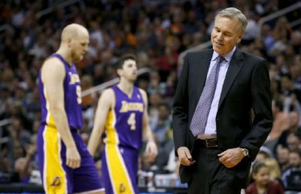 Los Angeles Lakers coach Mike D'Antoni has worked with a roster constantly in flux this season due to injuries.