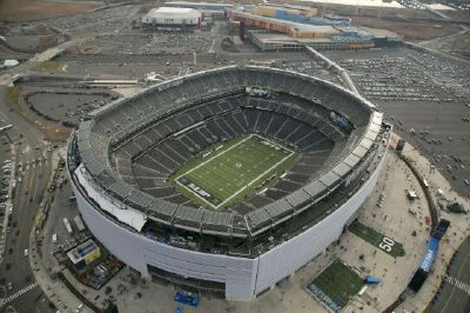 n this Dec. 1, 2013, photo, MetLife Stadium is seen in an aerial photo in East Rutherford, N.J.