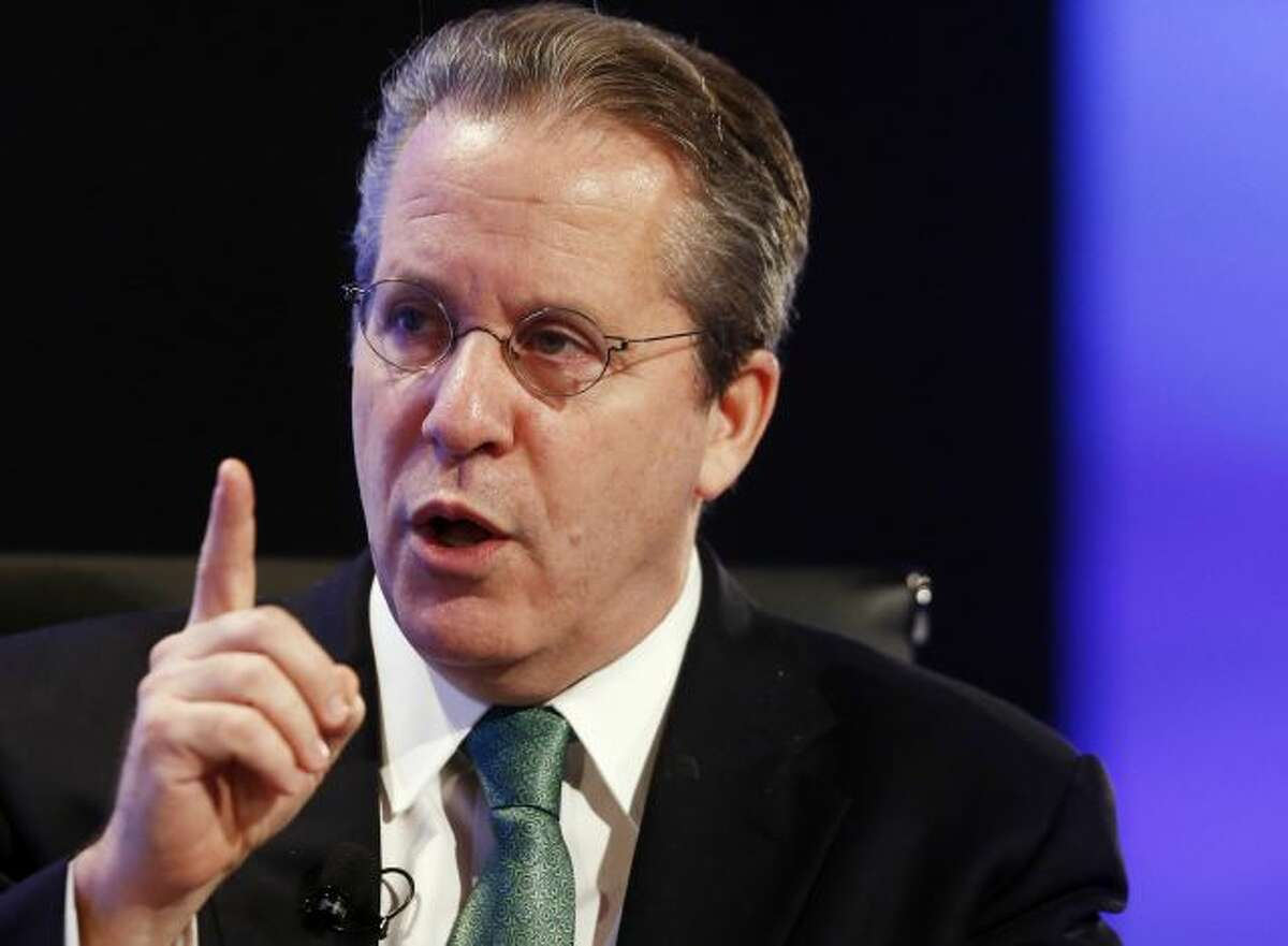 FILE - In this May 7, 2013 file photo, National Economic Council Director Gene Sperling speaks in Washington. A White House official says Sperling, President Barack Obama's top economic adviser, plans to leave in January and will be replaced by Jeffrey Zients, who has twice served as White House acting budget director. (AP Photo/Charles Dharapak, File)
