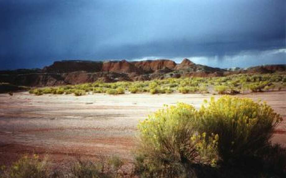 The Painted Desert which occupies the northern part of the 93,533-acre Petrified Forest National Park in eastern Arizona.