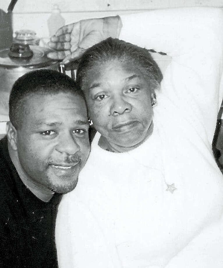 Allan Walker and mom Doris Walker Photo: Journal Register Co.
