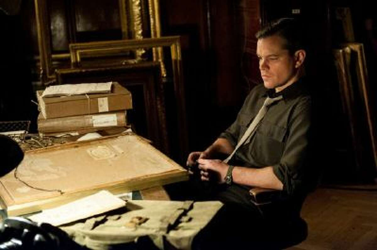 """This undated publicity photo provided by Sony Pictures Publicity shows actor Matt Damon in a scene from the Columbia Pictures film """"The Monuments Men."""""""