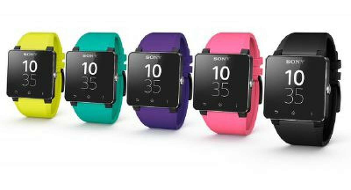 Sony's SmartWatch 2 in a variety of colors is seen in an undated photo provided by Sony.