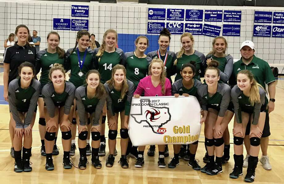 The John Cooper School volleyball team began the season by winning the Spike Down Classic championship in Bullard two weekends ago. Photo: Submitted Photo