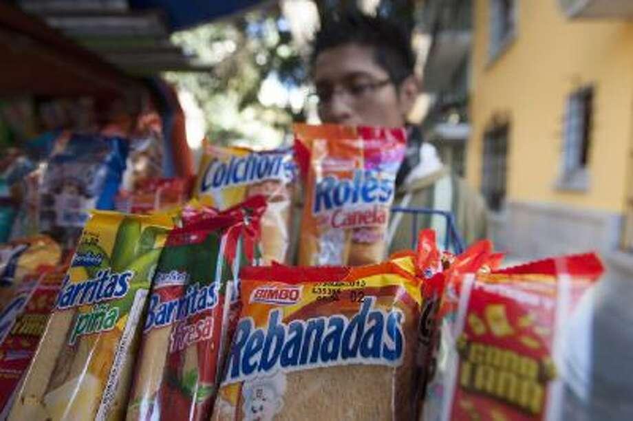The world's largest bread maker, Grupo Bimbo, produced these Rebanadas snacks, seen Feb. 14, 2013 in Mexico City.
