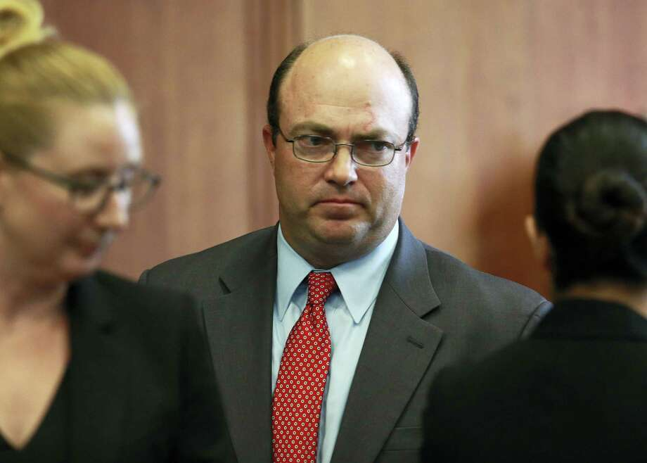 (Matt West/The Boston Herald via AP, Pool) First assistant district attorney Patrick Haggan, representing the state, looks on during a pre-trial hearing for Aaron Hernandez, the former New England Patriots NFL football player, at Suffolk Superior Court, Tuesday, Aug. 16, 2016, in Boston.  Judge Jeffrey Locke has set a trial date in February for Hernandez in a double murder case against him. Hernandez already is serving a life sentence for the 2013 killing of Odin Lloyd. (Matt West/The Boston Herald via AP, Pool) Photo: AP / Pool The Boston Herald