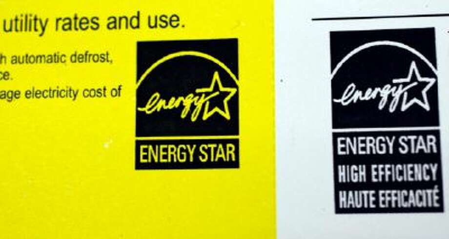 This March 9, 2010 file photo shows an Energy Star label at an appliance store in Mountain View, Calif. One way to start conserving energy in your home is to replace old appliances with Energy Star Appliances.