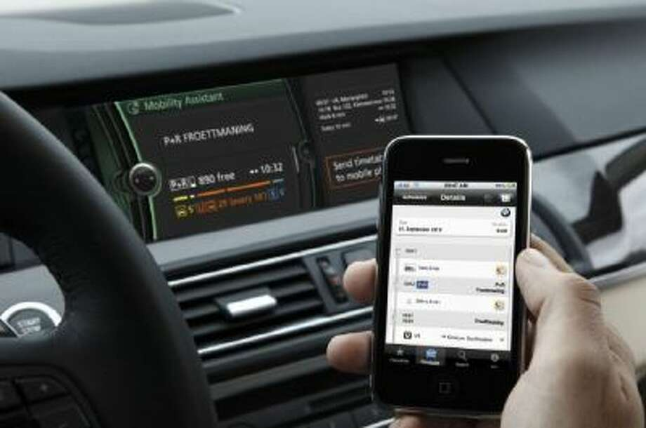 Apps can help you locate and reserve a parking space as you plan your trip.