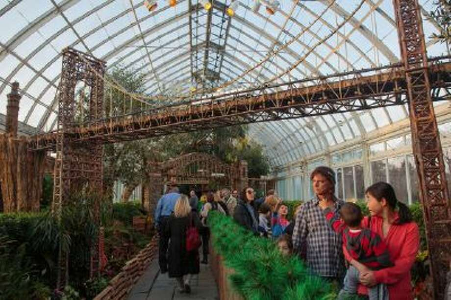The New York Botanical Garden?s holiday train show stretches through several rooms of the garden?s glass conservatory, shown on Dec. 1.