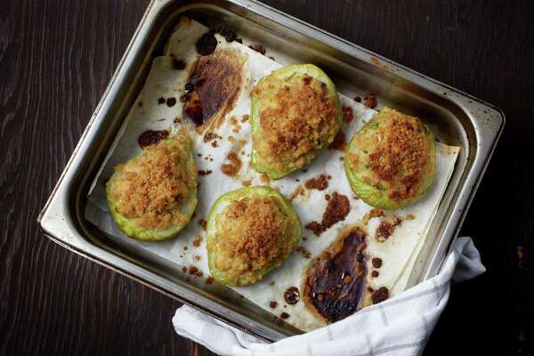 Stuffed Mirlitons; this recipe and more, pages D4-5.