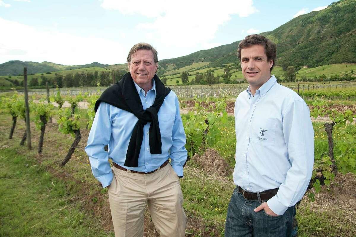 Aurelio Montes Sr., left, and Aurelio Jr. run Viña Montes in Chile and Argentina.
