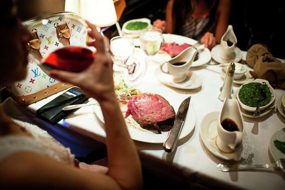 The prime rib entree at the Prime Rib in Washington, D.C. Photo: Scott Suchman / For The Washington Post