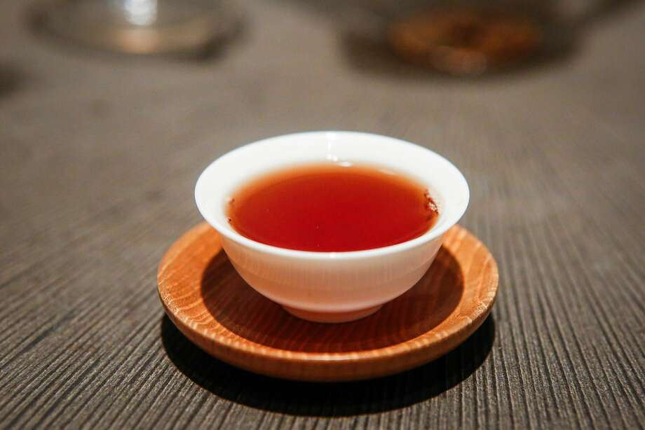 A cup of puer tea, a cult tea that David Lee Hoffman collects and sells. Photo: Nicole Boliaux, The Chronicle