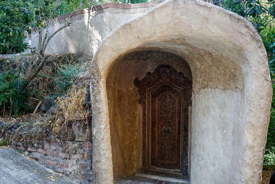 A hand-carved door on David Lee Hoffman's property. Photo: Nicole Boliaux, The Chronicle